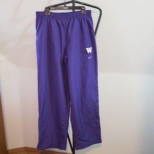 Nike UW NCAA Windbreaker Pants Zip Bottom Large